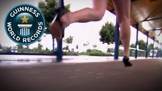 Record du 100m en talons aiguilles